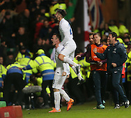 England's Wayne Rooney celebrates scoring his sides third goal<br /> <br /> - International Friendly - Scotland vs England- Celtic Park - Glasgow - Scotland - 18th November 2014  - Picture David Klein/Sportimage