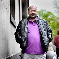 Nederland, Amsterdam , 22 mei 2013..Abdel Sellou (de échte donkere man op wie de figuur uit de film Intouchables is gebaseerd).Abdel sellou, the real dark man from the French movie Intouchables