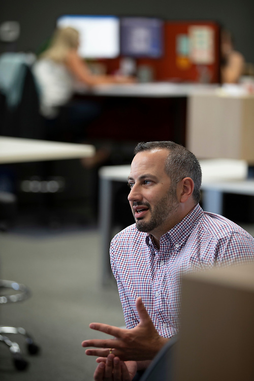 Opus Agency is a winner in The Oregonian/OregonLive's 2018 Top Workplaces competition. Jason Curtis, Creative Director, in the brand events and marketing agency's Beaverton location at 9000 S.W. Nimbus Avenue. Photo by Randy L. Rasmussen