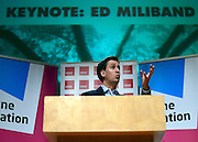 © Licensed to London News Pictures. 12/01/2013. London, UK Ed Miliband MP, Leader of the Labour Party, delivers his first major speech of 2013 today, Saturday January 12 2013. The keynote address to the Fabian Society was entitled: ?One Nation Labour, the party of change.? Photo credit : Stephen Simpson/LNP