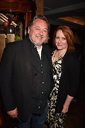 Pete Brown and guest at the Fortnum & Mason Food and Drink Awards, Fortnum & Mason Food and Drink Awards, London, England. 10 May 2018.