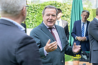 02 JUL 2020, BERLIN/GERMANY:<br /> Gerhard Schroder, SPD, Bundeskanzler a.D., Garten Deutsche Parlamentarisches Gesellschaft<br /> IMAGE: 20200702-01-073<br /> KEYWORDS: Gerhard Schröder