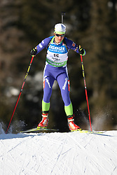 COUPE DU MONDE DE BIATHLON 2010 ANTERSELVA..© Pierre Teyssot / Sportida.com..GREGORIN Teja from Slovenia during the individual race 15 km ladies of the stage of the e.on Ruhrgas IBU Biathlon World Cup on 20/01/2010 , 2010 in Anterselva - Antholz,  Italy.