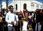 Gregory Isaacs at home in Kingston Jamaica 1987