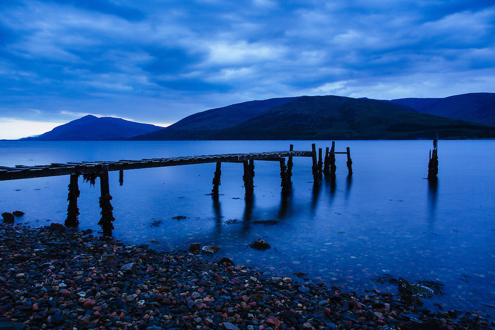 An old jetty along the loch at Fort William.