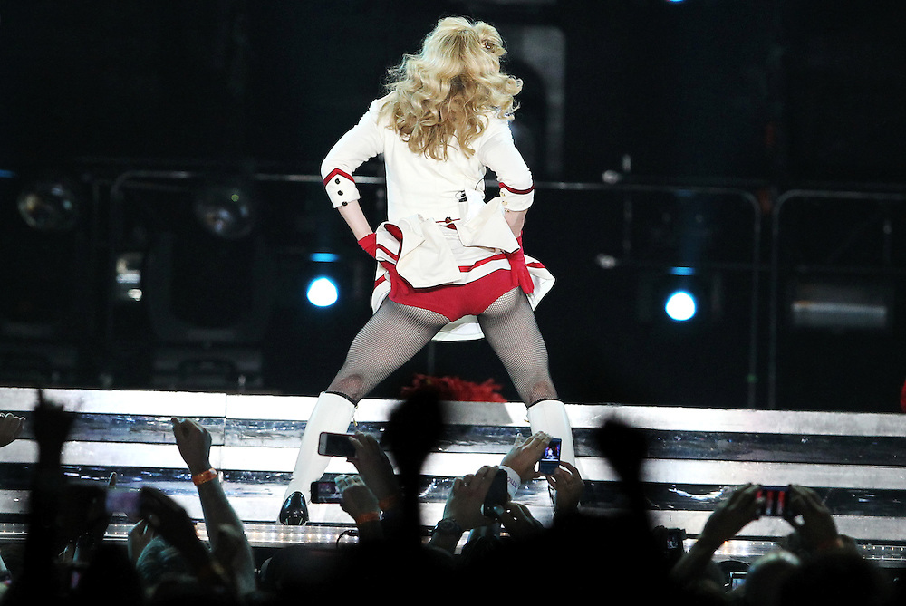 Madonna performs at Xcel Energy Center in St. Paul November 3, 2012. (Courtney Perry/Special to the Star Tribune)..