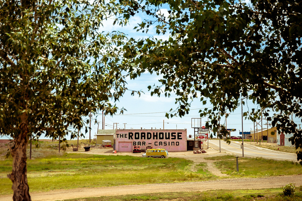 The Roadhouse Bar & Casino in Chester, Montana.