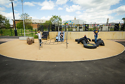 Angel Gardens, Edmonton, playground built on former brownfield land used for flytipping. Enfield, London 2015