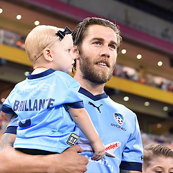 BRISBANE, AUSTRALIA - FEBRUARY 3: Joshua Brillante of Sydney walks out during the round 18 Hyundai A-League match between the Brisbane Roar and Sydney FC at Suncorp Stadium on February 3, 2017 in Brisbane, Australia. (Photo by Patrick Kearney/Brisbane Roar)