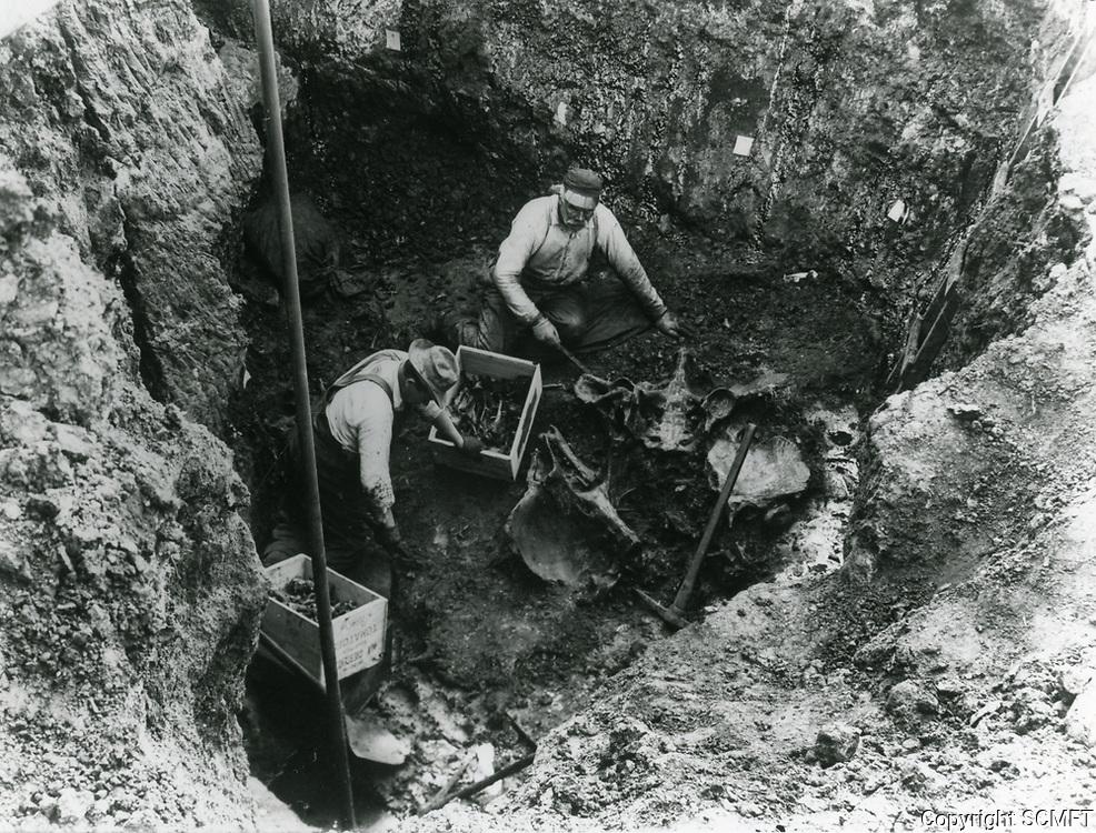 1920 Diggers in the La Brea Tar Pits