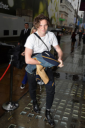 Brooklyn Beckham's arrives to attend the private view of his photographs to promote his new photography book What I See, at Christie's in London.