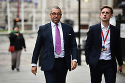 © Licensed to London News Pictures. 16/12/2019. London, UK. Conservative Party chairman JAMES CLEVERLY is seen in Westminster, London. Last week the Conservative Party achieved a majority of 80 seats in a general election which saw large numbers of seats traditionally held by Labour switch to the Tories. Photo credit: Ben Cawthra/LNP