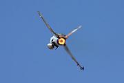 Israeli Air Force F-16A Fighter jet. Rear Burner