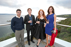 Stars ofThe Inbetweeners Movie, Simon Bird and Joe Thomas, with Lydia Rose Bewley and Jessica Knappet, at a press photo-call on Skye before a sold-out screening of the new film in the island's Gaelic college.