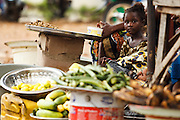 Girl sitting in the market in Kayes, Mali on Thursday September 2, 2010.