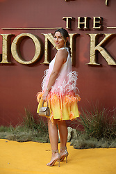 Sam Faiers attends the premiere of The Lion King in London.<br />