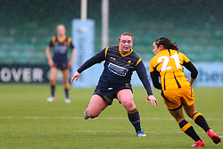 Laura Keates of Worcester Warriors Women closes down Sammy Wong of Wasps FC Ladies - Mandatory by-line: Nick Browning/JMP - 24/10/2020 - RUGBY - Sixways Stadium - Worcester, England - Worcester Warriors Women v Wasps FC Ladies - Allianz Premier 15s