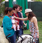 Laila Ali and daughter Sydney J. Conway and Constance Marie..2011 Celebrity Picnic Sponsored By Disney, Time For Heroes, To Benefit The Elizabeth Glaser Pediatric AIDS Foundation - Inside..Wadsworth Theater Lawn..Los Angeles, CA, USA..Sunday, June 12, 2011..Photo By CelebrityVibe.com..To license this image please call (212) 410 5354; or.Email: CelebrityVibe@gmail.com ;.website: www.CelebrityVibe.com