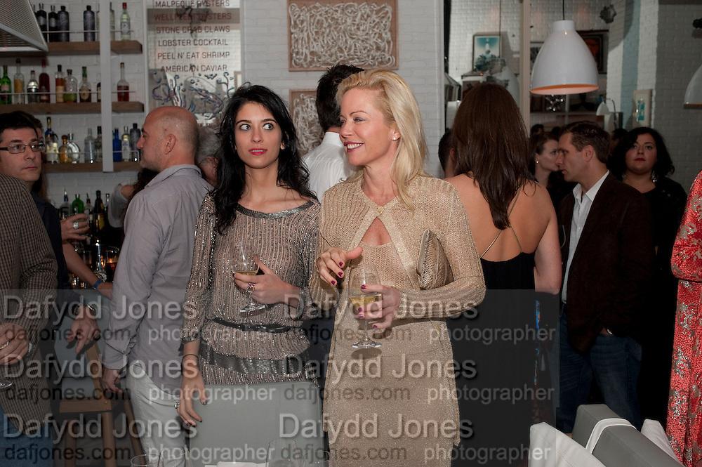 LAURA HOSFIELD; CHRISSIE ERPF, Dom PŽrignon with Alex Dellal, Stavros Niarchos, and Vito Schnabel celebrate Dom PŽrignon Luminous. W Hotel Miami Beach. Opening of Miami Art Basel 2011, Miami Beach. 1 December 2011. .<br /> LAURA HOSFIELD; CHRISSIE ERPF, Dom Pérignon with Alex Dellal, Stavros Niarchos, and Vito Schnabel celebrate Dom Pérignon Luminous. W Hotel Miami Beach. Opening of Miami Art Basel 2011, Miami Beach. 1 December 2011. .