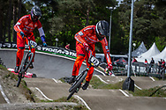 #12 (BENSINK Niels) NED during round 3 of the 2017 UCI BMX  Supercross World Cup in Zolder, Belgium,