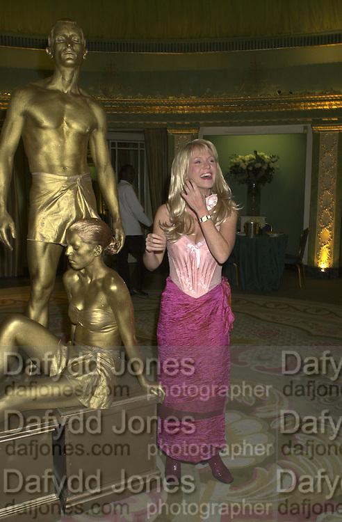 Esther Mcvey. James Bond charity Ball in aid of Baby Lifeline. Dorchester. 30 October 2000.  © Copyright Photograph by Dafydd Jones 66 Stockwell Park Rd. London SW9 0DA Tel 020 7733 0108 www.dafjones.com