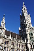 The famous Glockenspiel Clock Tower in central Munich