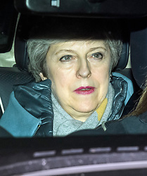 © Licensed to London News Pictures. 12/03/2019. London, UK. THERESA MAY is seen leaving the Houses of Parliament in Westminster After MPs voted on the Brexit deal. Parliament is expected to reject the Prime Ministers deal, with suggestions that there could be attempts to remove the PM if there is any delay to Brexit. Photo credit: Ben Cawthra/LNP