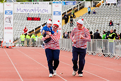 Sheffield Half Marathon and Fun Run Sunday Morning.Where's Wally? At the Start but it looks like he wishes he was somewhere else..12 May 2013.Image © Paul David Drabble