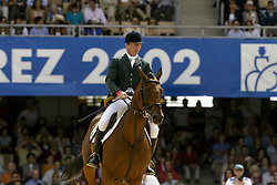 Lennon Dermott, IRL, Liscalgot<br /> Jumping final<br /> World Equestrian Games Jerez de la Fronteira 2002<br /> Photo © Dirk Caremans