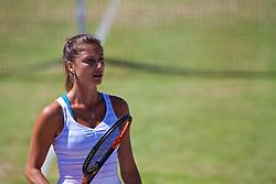 LIVERPOOL, ENGLAND - Sunday, June 24, 2018: Corinna Dentoni (ITA) during day four of the Williams BMW Liverpool International Tennis Tournament 2018 at Aigburth Cricket Club. (Pic by Paul Greenwood/Propaganda)