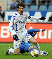 Fotball<br /> Tyskland<br /> Foto: Witters/Digitalsport<br /> NORWAY ONLY<br /> <br /> 14.02.2009<br /> <br /> v.l. Mladen Krstajic, Joel Epalle Bochum<br /> Bundesliga VfL Bochum - FC Schalke 04