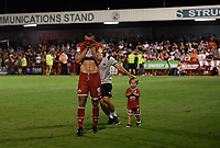 Football - 2019 / 2020 EFL Carabao (League) Cup - Second Round: Crawley Town vs. Norwich<br /> <br /> Crawley Town's Ollie Palmer celebrates their 1-0 victory, at The People's Pension Stadium (Broadfield Stadium)<br /> <br /> COLORSPORT/ASHLEY WESTERN