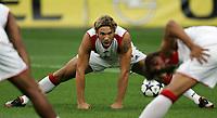 Milano 13/8/2004 Trofeo Seat. Milan - Sampdoria 2-2. Sampdoria won after penalties - Sampdoria vince ai rigori.<br /> <br /> Andriy Shevchenko Milan<br /> <br /> Foto Andrea Staccioli Graffiti