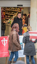 © Licensed to London News Pictures. 21/03/2015. Chipping Norton, Oxfordshire. Prime Minister David Cameron shopping in Chipping Norton at the Farmers Market and in Sainsburys. Photo credit : MARK HEMSWORTH/LNP
