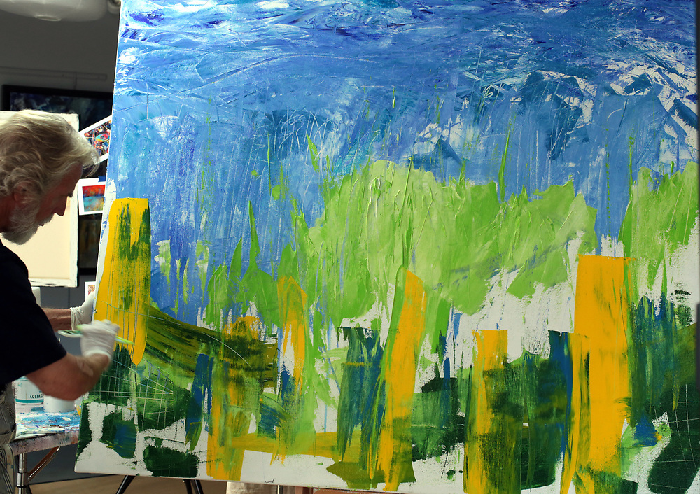 The start of 'THE WALL.' This was a painting that would paint itself, or rather, demand that I paint it.