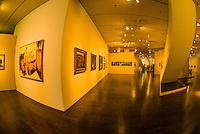 Western American Art collection, Frederic C. Hamilton Building of the Denver Art Museum, Civic Center Cultural Complex, Denver, Colorado USA