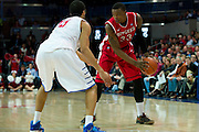 DALLAS, TX - JANUARY 21: Wally Judge #33 of the Rutgers Scarlet Knights brings the ball up court against the SMU Mustangs on January 21, 2014 at Moody Coliseum in Dallas, Texas.  (Photo by Cooper Neill/Getty Images) *** Local Caption *** Wally Judge