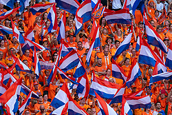 07-07-2019 FRA: Final USA - Netherlands, Lyon<br /> FIFA Women's World Cup France final match between United States of America and Netherlands at Parc Olympique Lyonnais. USA won 2-0 / Oranje Orange support