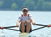 Bled, SLOVENIA, General View, CAN M1X Malcolm HOWARD.  1st FISA World Cup, on Lake Bled.  Thursday  27/05/2010  [Mandatory Credit Peter Spurrier/ Intersport Images]