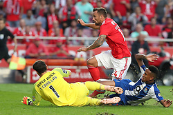 October 7, 2018 - Lisbon, Portugal - Benfica's Suisse forward Haris Seferovic shoots to score during the Portuguese League football match SL Benfica vs FC Porto at the Luz stadium in Lisbon on October 7, 2018. (Credit Image: © Pedro Fiuza/ZUMA Wire)