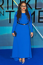 © Licensed to London News Pictures. 13/03/2018. London, UK. Director AVA DUVERNAY arrives for the European film premiere of A Wrinkle In Time<br /> Photo credit: Ray Tang/LNP