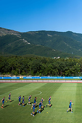 July 4, 2018 - Gelendzhik, Russia - 180704 The Swedish national football team is gathered at a practice session during the FIFA World Cup on July 4, 2018 in Gelendzhik..Photo: Petter Arvidson / BILDBYRN / kod PA / 92081 (Credit Image: © Petter Arvidson/Bildbyran via ZUMA Press)