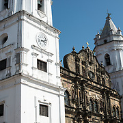 Begun in 1688, the church was consecrated in 1796. It was designed by military engineers, and some of the old stone facade used some original materials from the ruins of Old Panama. It was renovated in 2003.