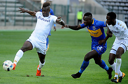 Cape Town 18-02-24 Cape Town City Nana AkosahBempah attacking as Wits midfielder Edwin Gyimah trying to defender in the PSL Game In Athlone Staduim Pictures Ayanda Ndamane African news agency/ANA