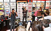 Celebrity Peter Andre pictured promoting his two new perfumes, Forever and Forever Young, at The Perfume Shop in Westfield Derby shopping centre today. Picture by Shaun Fellows / Shine Pix
