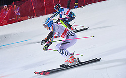 19.02.2019, Stockholm, SWE, FIS Weltcup Ski Alpin, Parallelslalom, Damen, im Bild v.l. Christina Geiger (GER), Frida Hansdotter (SWE) // f.l. Christina Geiger of Germany Frida Hansdotter of Sweden in action during the ladie's parallel slalom of FIS ski alpine world cup at the Stockholm, Sweden on 2019/02/19. EXPA Pictures © 2019, PhotoCredit: EXPA/ Nisse Schmidt<br /> <br /> *****ATTENTION - OUT of SWE*****