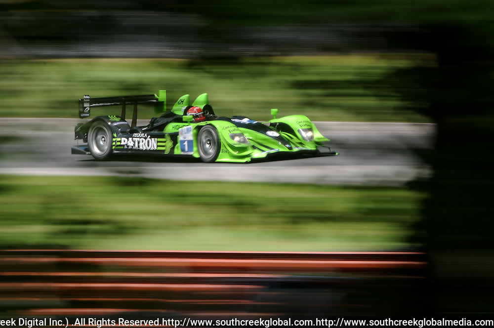 6 August, 2010; The Patrón Highcroft Racing Honda Performance Development ARX-01c is driven to a third place grid position by Simon Pagenaud during qualifying for the American LeMans Series Mid-Ohio Sports Car Challenge at the Mid-Ohio Sports Car Course in Lexington, Ohio..Mandatory Credit: Will Schneekloth / Southcreek Global