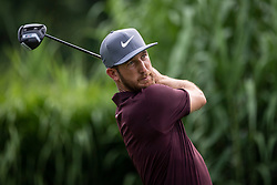 August 2, 2018 - Akron, OH, U.S. - AKRON, OH - AUGUST 02:  Kevin Chappell (USA) plays his shot from the 16th tee during the first round of the WGC-Bridgestone Invitational on August 2, 2018 at the Firestone Country Club South Course in Akron, Ohio. (Photo by Shelley Lipton/Icon Sportswire) (Credit Image: © Shelley Lipton/Icon SMI via ZUMA Press)