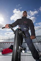 Sami Al Shukaili (OMA). Oman Sail's MOD70 Musandam during Kiel week 2014, 22-06-2014, Kiel - Germany.