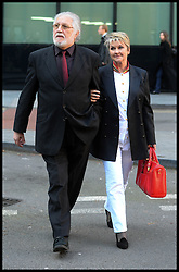Dave Lee Travis arrives  at Southwark Crown Court. London, United Kingdom. with his wife Marianne, Monday, 24th February 2014. Picture by Andrew Parsons / i-Images